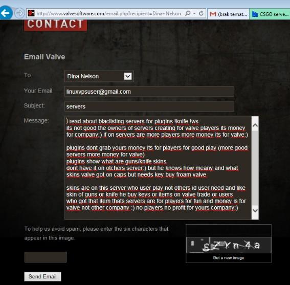 CSGO server blacklisted due to inventory violation