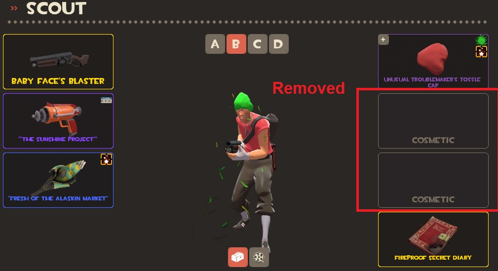 TF2 Cosmetic Loadouts Being Removed - AlliedModders