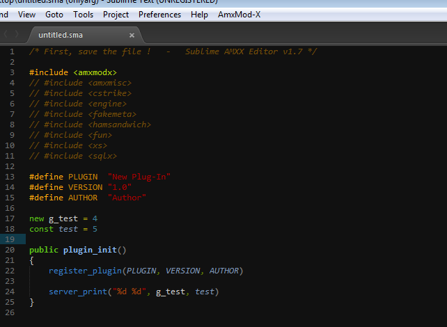 [Editor] Sublime AMXX-Editor