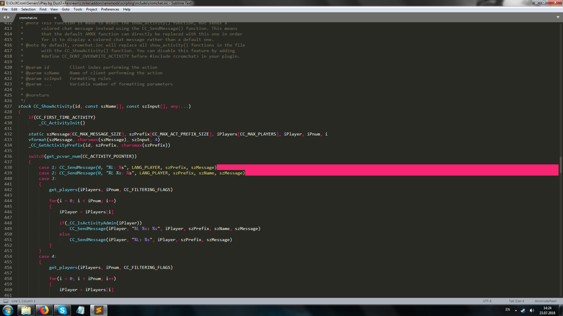 TUT] Compiling AMXX plugins with Sublime Text - Page 10